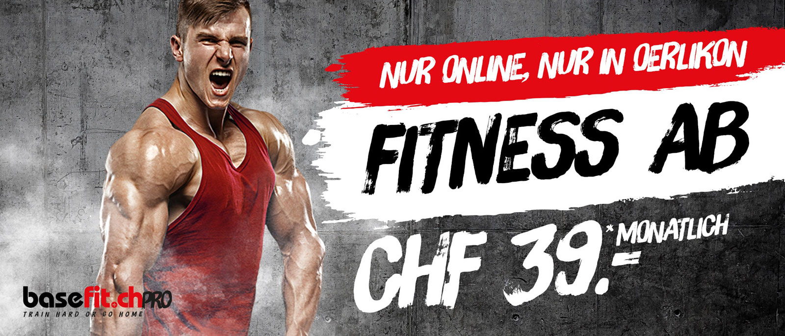 Fitness Monats-Abo ab CHF 39.00 in Oerlikon