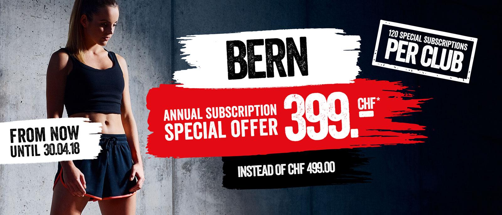 Bern Annual Subscription CHF 399.00