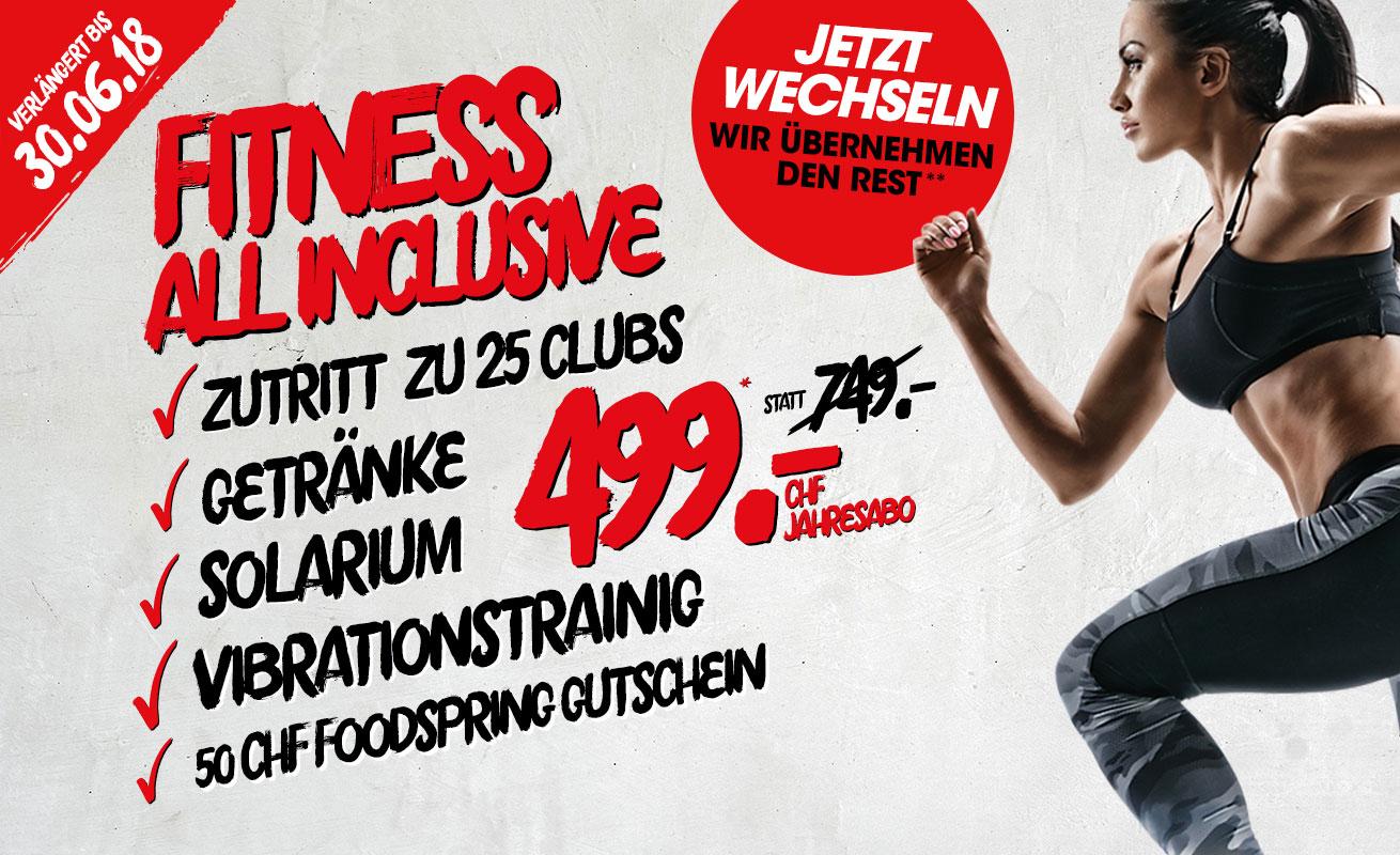+++ VERLÄNGERT +++ Fitness all inclusive