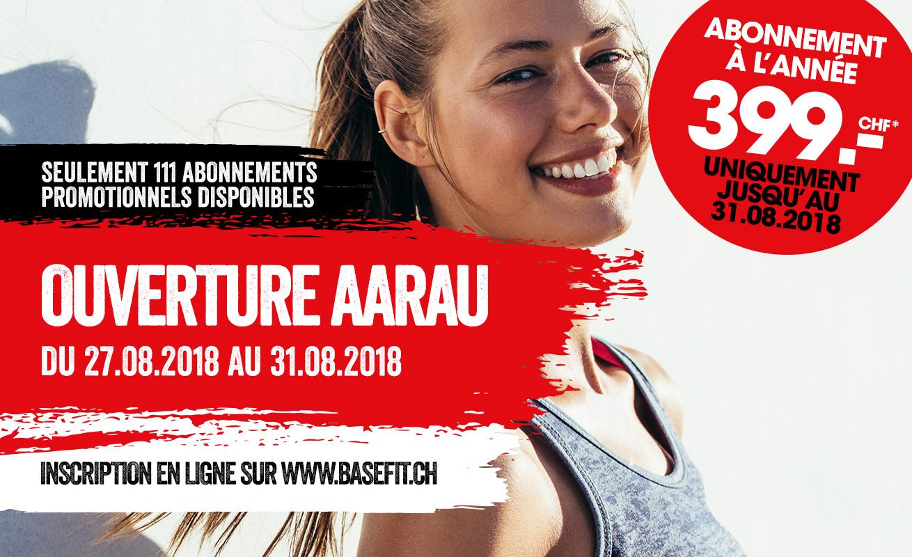 Nouvelle ouverture en août 2018 à Aarau