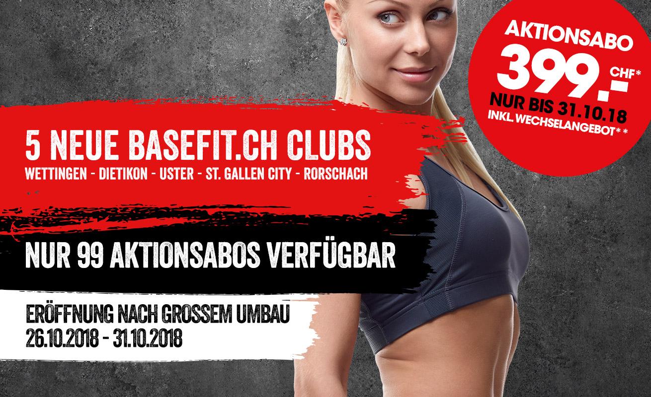 5 neue basefit.ch Clubs