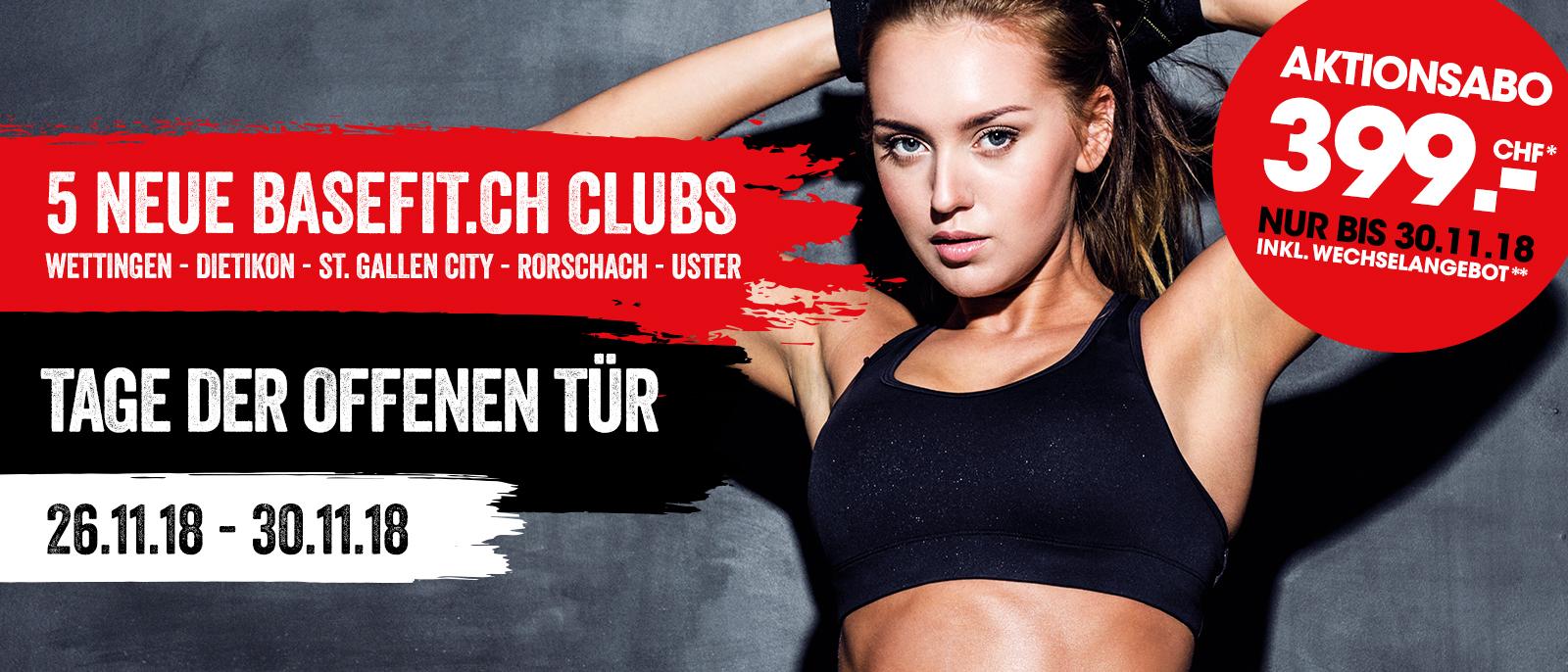 5 neue basefit.ch Clubs November