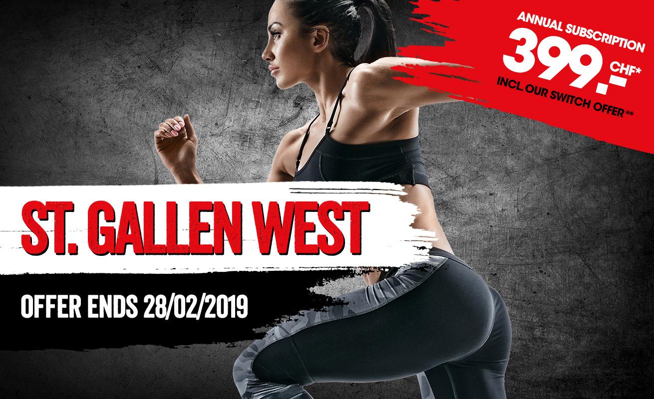 St Gallen West Jahresabo CHF 399.-