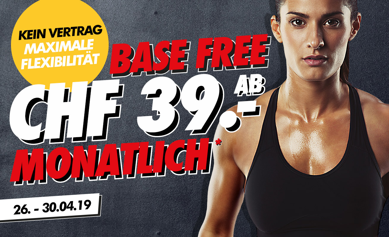 Fitness Monats-Abo ab CHF 39.00